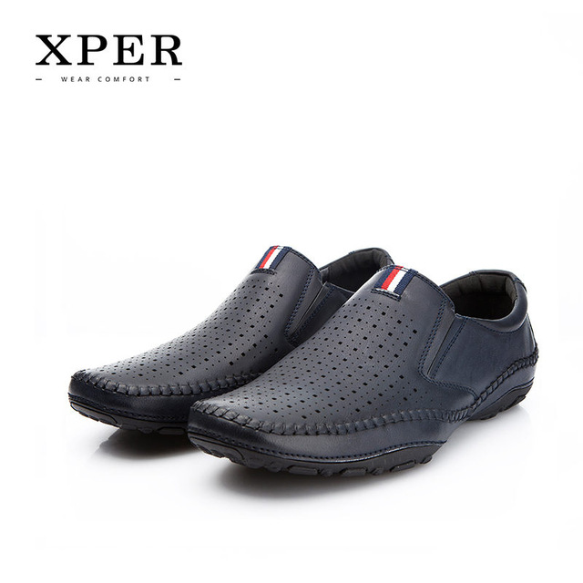 1d744f9f5a34 Home   Mens Footwear   2018 XPER Brand Spring Summer Leather Casual Shoes  Men Loafers Fashion Footwear Hole Male Walking Shoes Comfortable  YMD86877NY