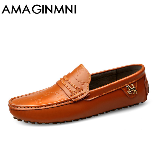 7ecb1ad83efe Home   Mens Footwear   AMAGINMNI Brand Summer spring Breathable Genuine  Leather Flats Loafers Men Casual shoes men Luxury Fashion Slip On Driving  shoes
