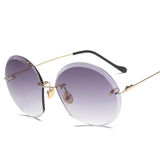 986bb88bf2 Home   Shades   LeonLion 2018 Metal Goggle Rimless Sunglasses Women Ocean  Lens Classic Brand Designer Men Women HD Sun Glasses Women UV400 Box