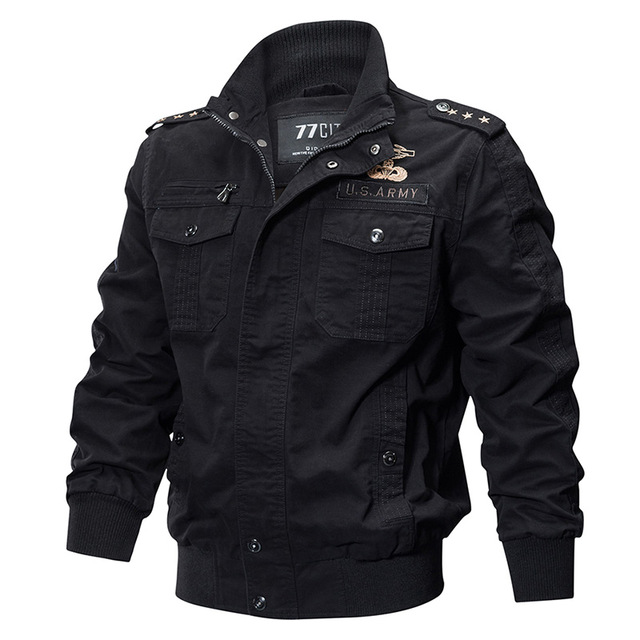 5a51506e5de Home / Mens Jackets / ReFire Gear Military Pilot Jackets Men Winter Autumn  Bomber Cotton Coat Tactical Army Jacket Male Casual Air Force Flight Jacket