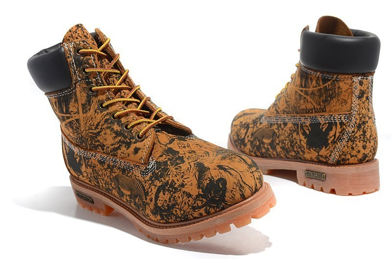 TIMBERLAND Animal Prints Camouflage Leopard Men Premium Ankle Martin Boots a6c3b44bfac7