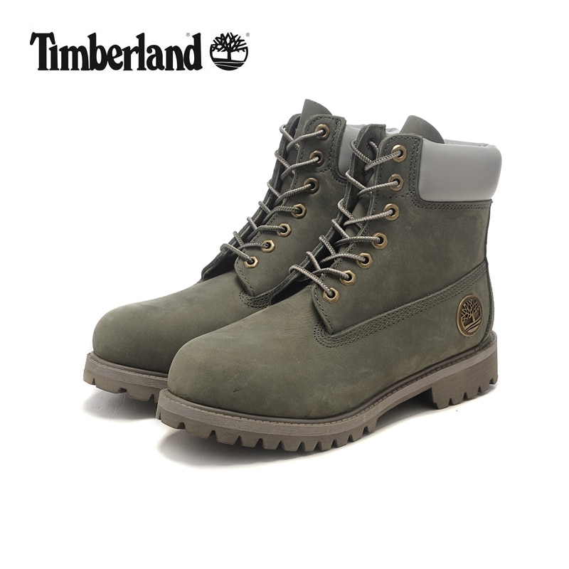 37a9b19aea0 Original TIMBERLAND Grey Women Winter Premium Metal Motorcycle Ankle  Boots,Woman Genuine Cow Leather Timber Warm Casual Shoes
