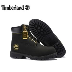 52090c734 TIMBERLAND Men All Black Gold Metal Ankle Martin Motorcycle Boots,Man  high-top Leather Winter Wearable Casual Walk Shoes